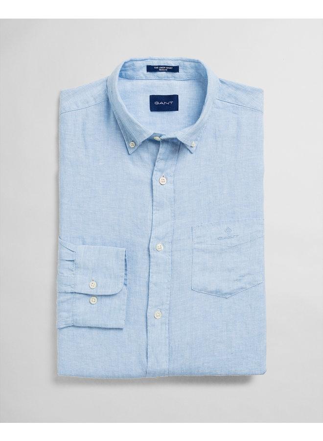 Gant Overhemd Linnen Capri Blue