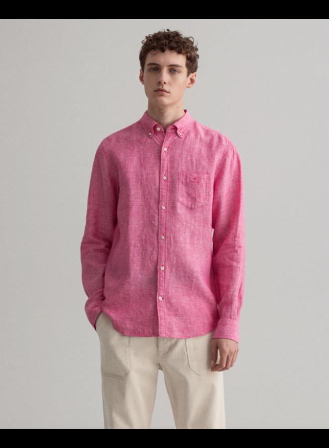 Gant Overhemd Linnen Cabaret Pink