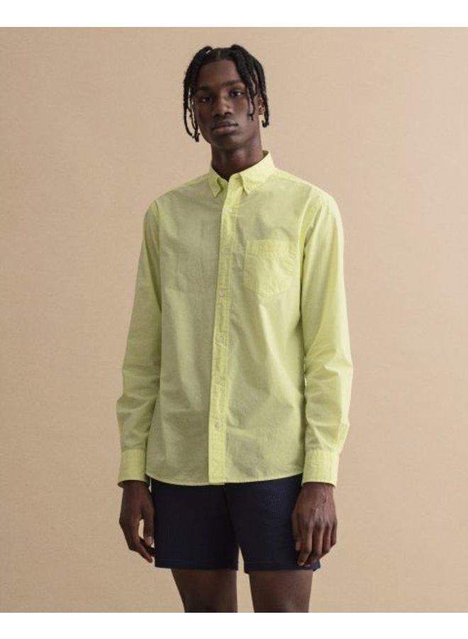 Gant Overhemd Sunfaded Sunny Lime Regular