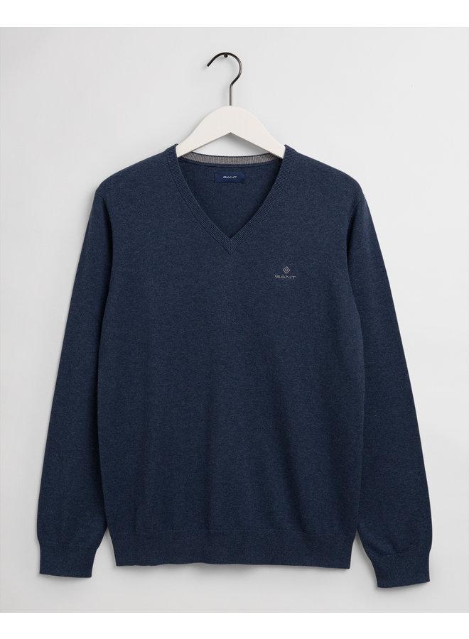 Gant Pullover V-Neck Dark Jeans Blue