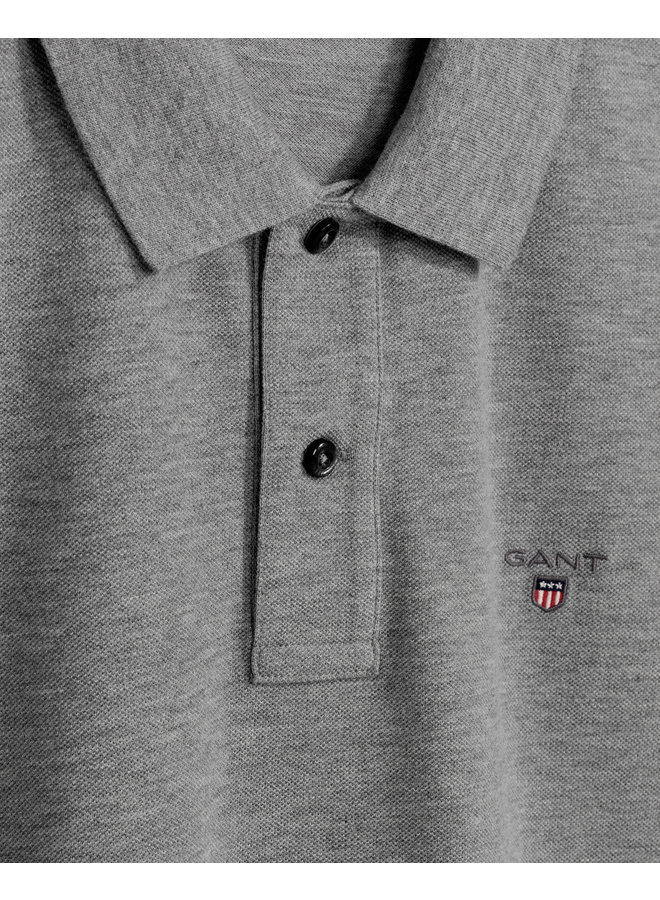 Gant Polo Pique Grey Melange