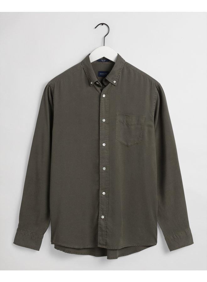 Gant Overhemd Dyed Tencel Dark Leaf