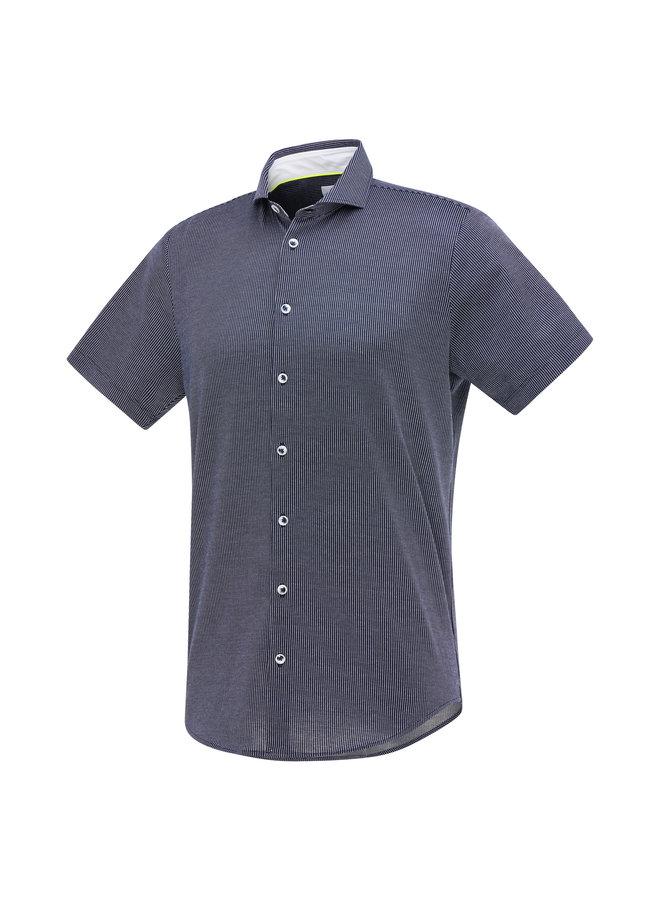 Blue Industry Shirt Short Sleeve Stripe Navy