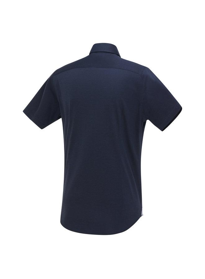 Blue Industry Shirt Short Sleeve Dark Blue