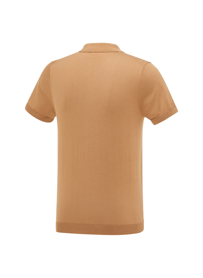 Blue Industry Polo Gebreid Camel