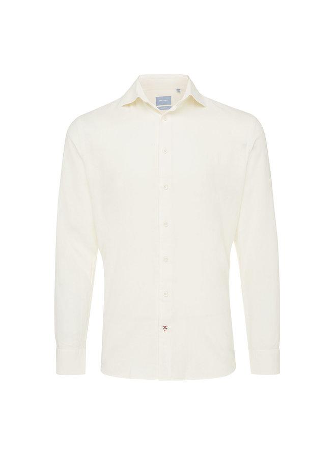 Tresanti Overhemd Linnen Yarn dyed White