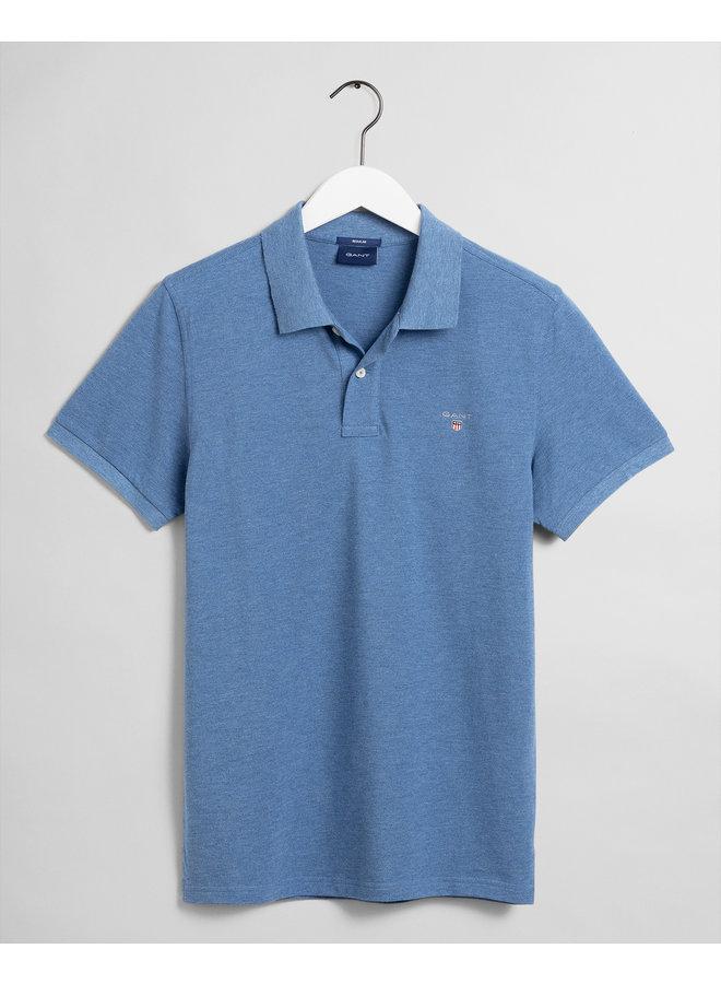 Gant Polo Pique Denim Blue Mel