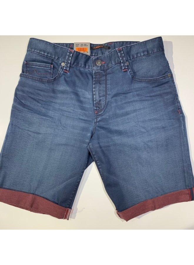 ALberto Short Jeans Colour Coating Blue