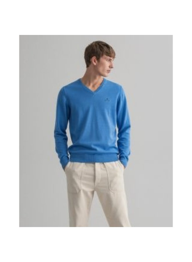 Gant Pullover V-Neck Pacific Blue
