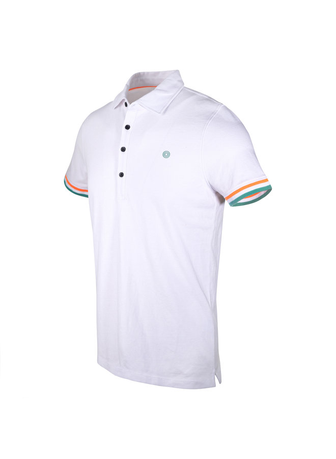Blue Industry Polo White