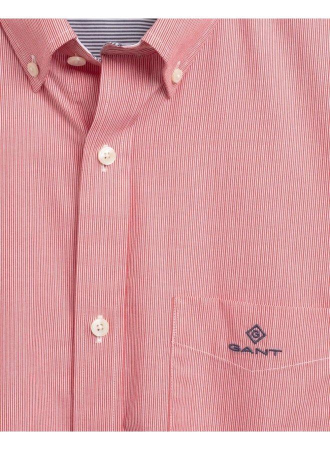 Gant Overhemd Micro Stripe Bright Red