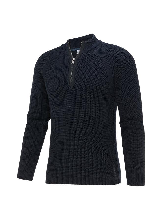 Blue Industry Pullover Zipp Navy