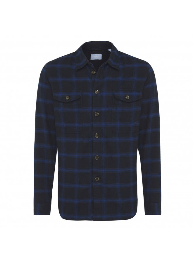 Tresanti Blue Flannel checked (over)shirt