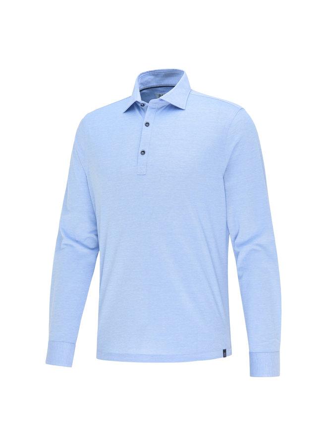 Blue Industry Polo Long Sleeve L.Blue