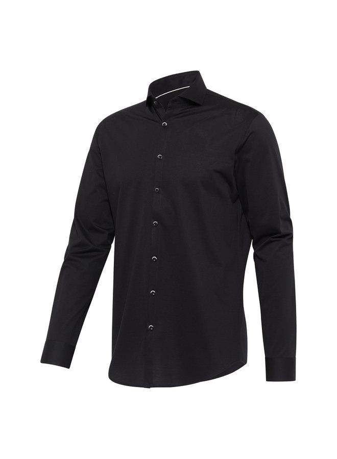 Blue Industry Overhemd Cool Comfort Jersey Black