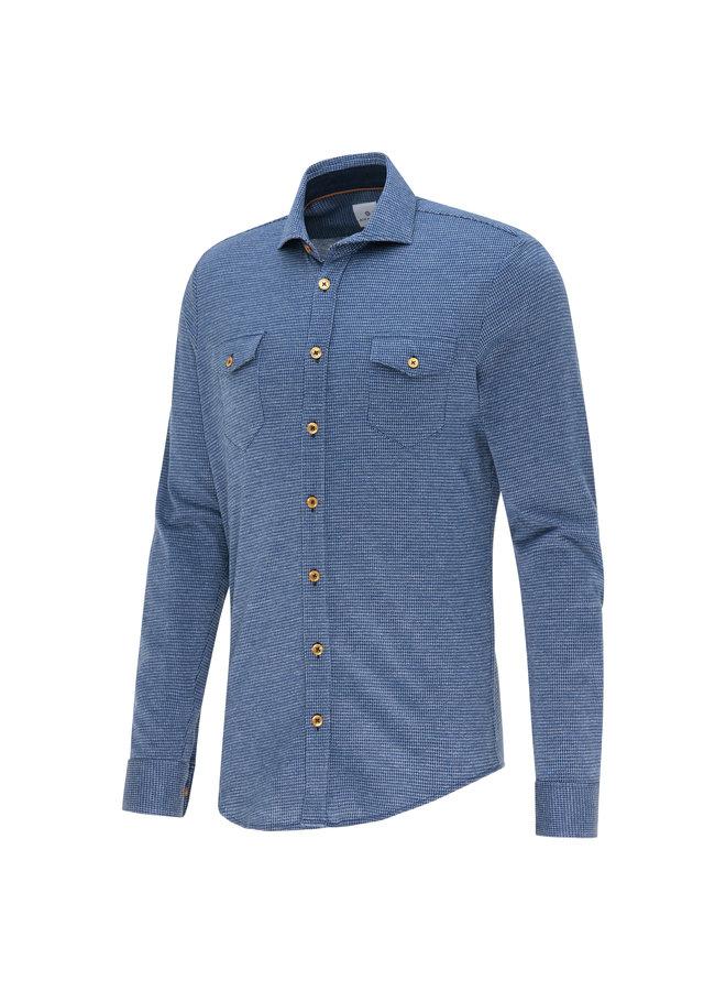 Blue Industry Overhemd Jersey Ruitje Blue