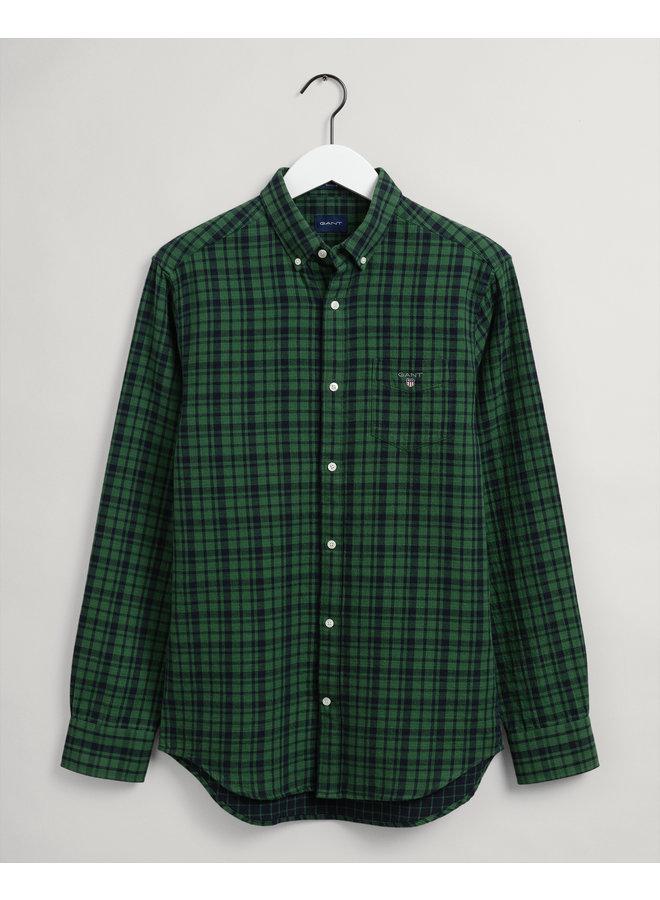 Gant Overhemd Flannel Two Faced Eden Green