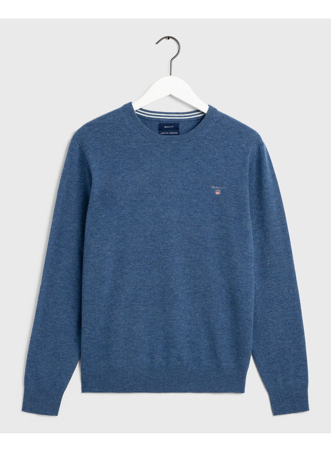 Gant Pullover Superfine Lambswool  Stone Blue Melange