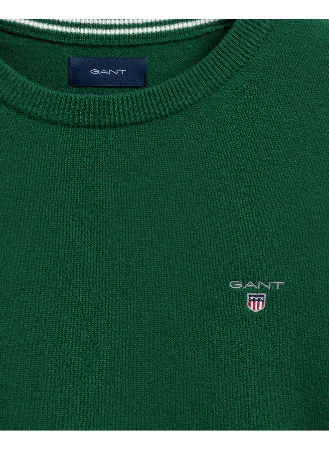 Gant Pullover Superfine Lambswool Forest Green Melange