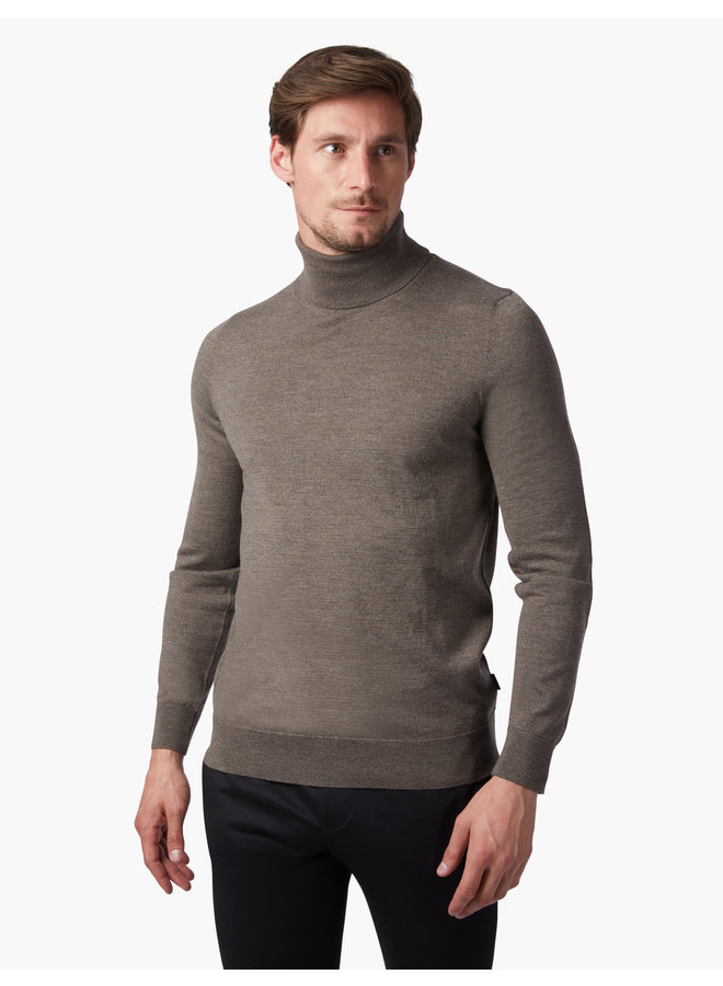 Cavallaro Pullover Merino Roll Neck Dark Taupe