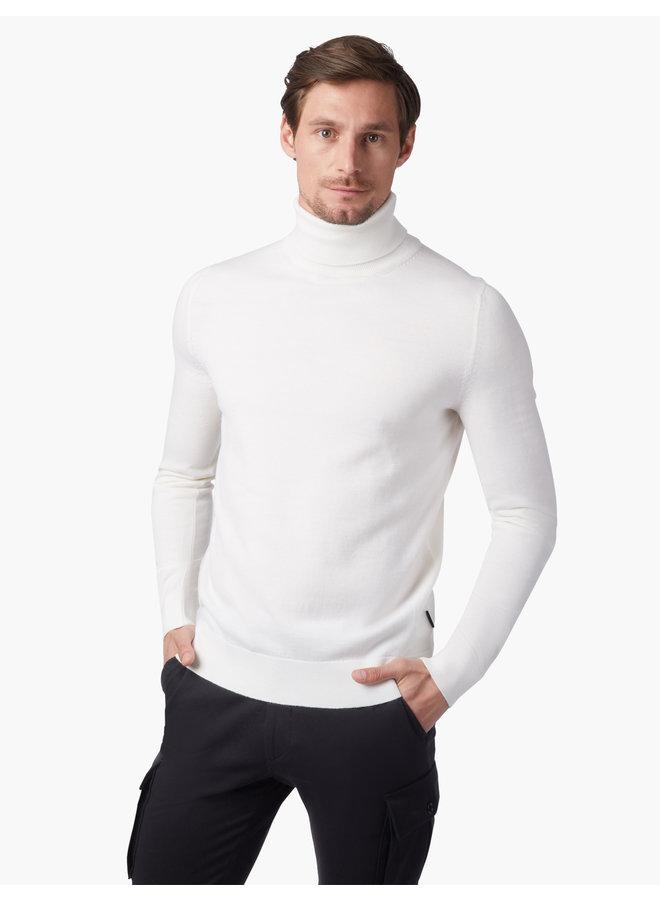 Cavallaro Pullover Merino Roll Neck Off White