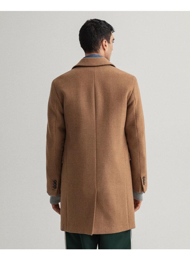 Gant Classic Wool Coat Roasted Walnut