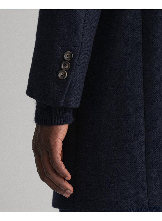 Gant Classic Wool Coat Evening Blue