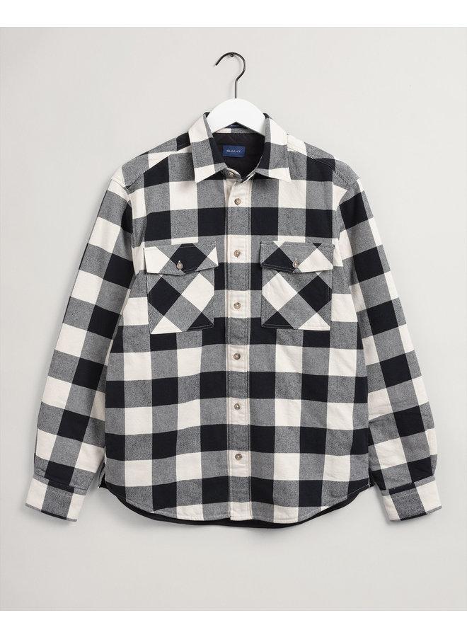 Gant Overshirt Buffalo Padded Ruit Cream/Black