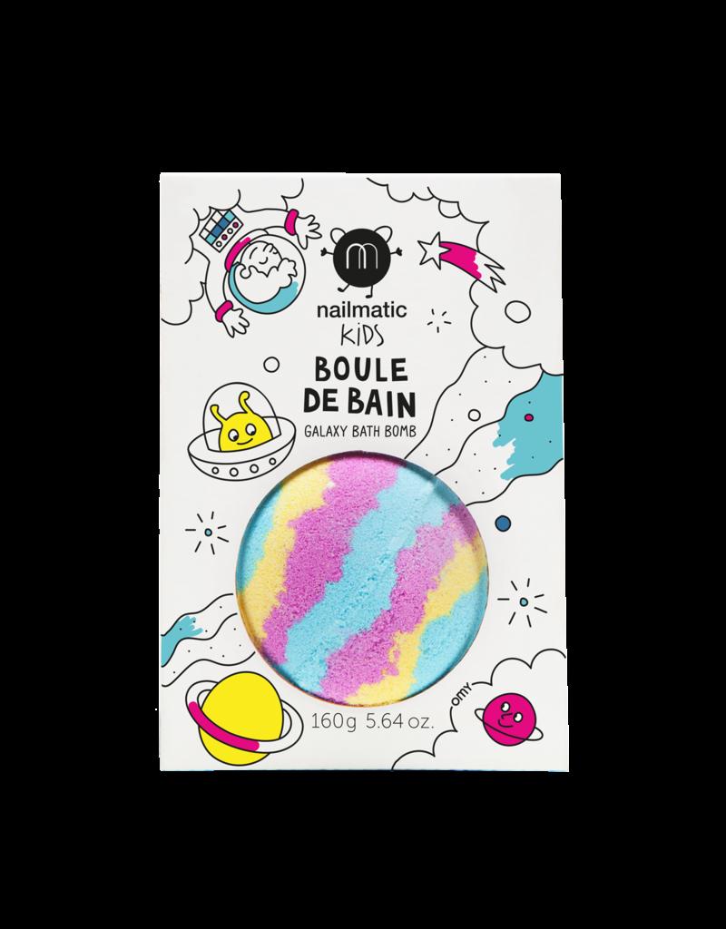 nailmatic Badbruisbal Kids blauw-geel-roze - Galaxy