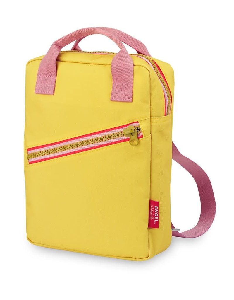 Engel. Rugzak small 'Zipper Yellow'