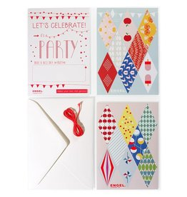 Engel. DIY sticker slinger kaart
