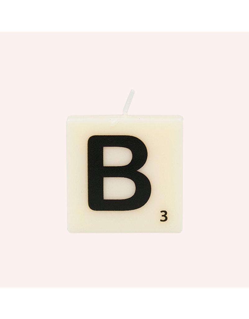 The Gift Label Letter kaarsen - B