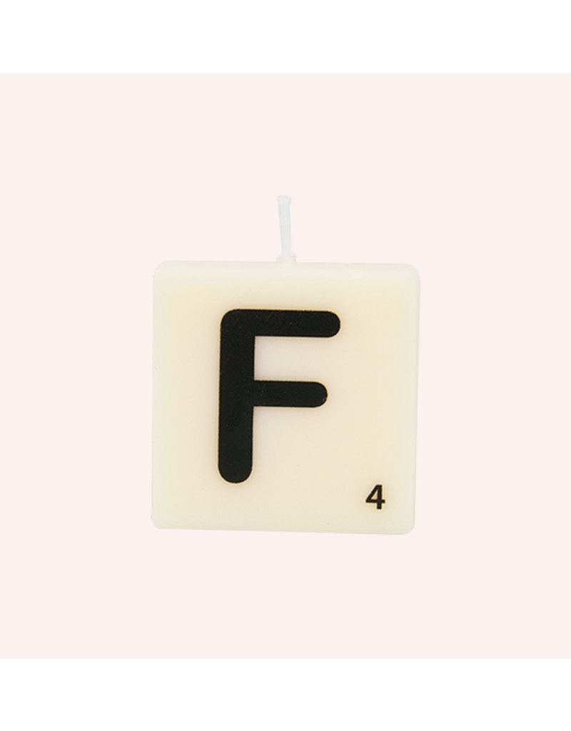 The Gift Label Letter kaarsen - F