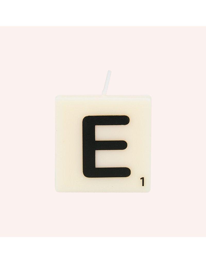 The Gift Label Letter kaarsen - E