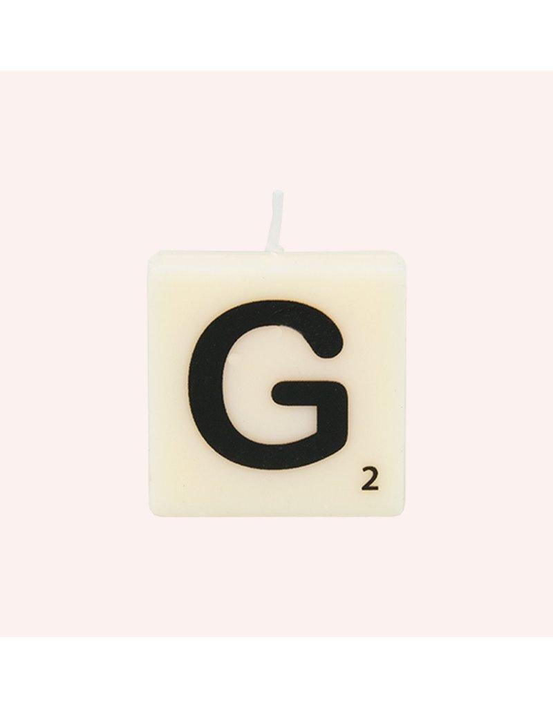 The Gift Label Letter kaarsen - G