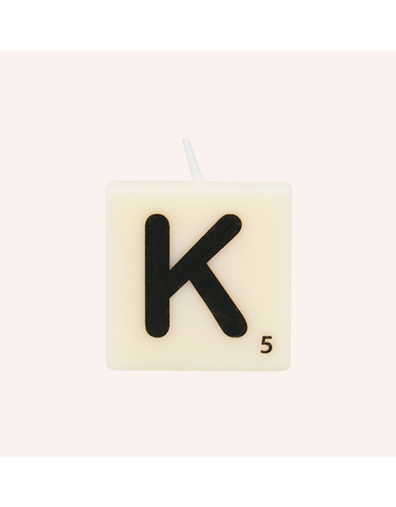 The Gift Label Letter kaarsen - K