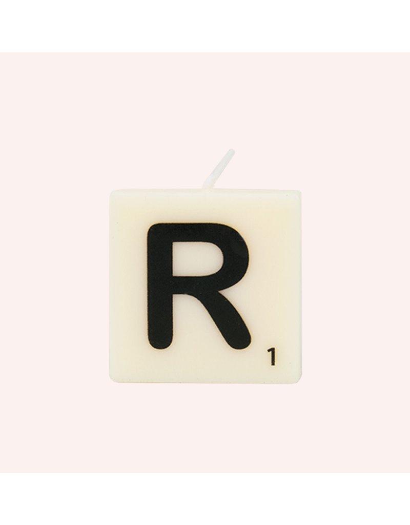 The Gift Label Letter kaarsen - R