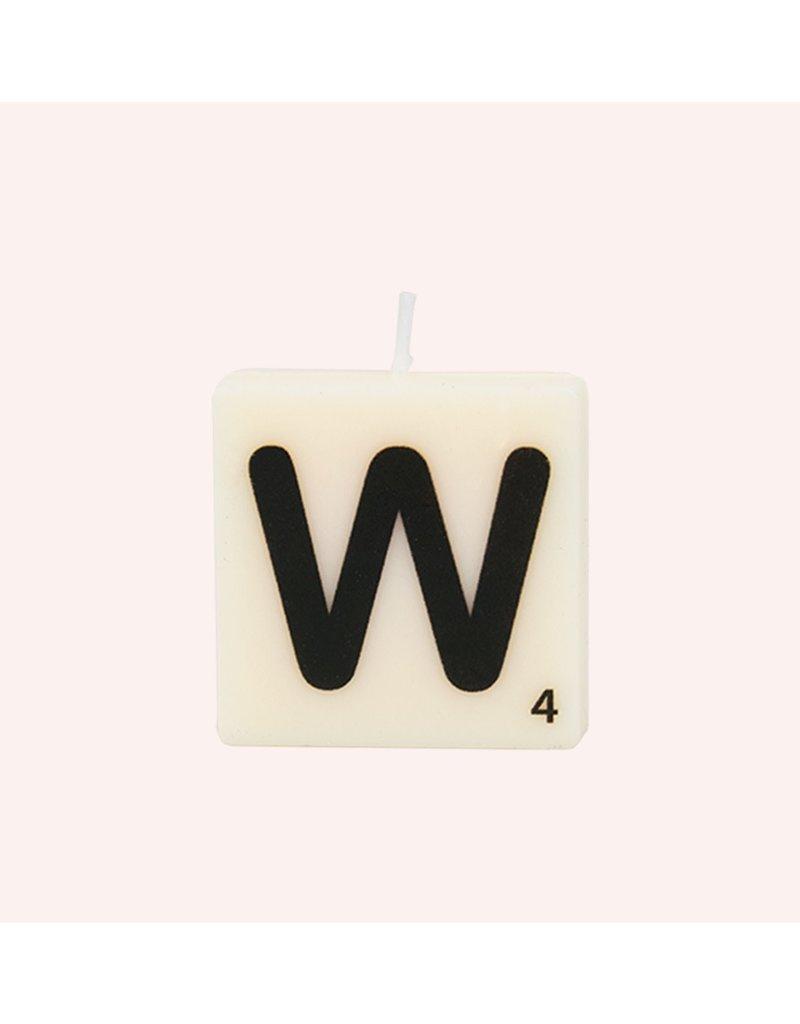 The Gift Label Letter kaarsen - W