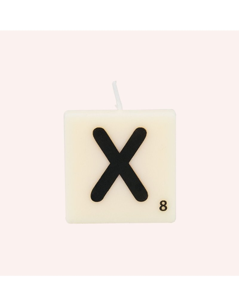 The Gift Label Letter kaarsen - X