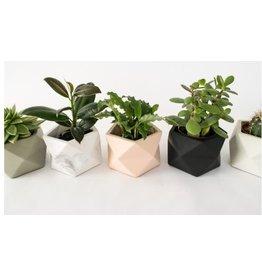 HOUSE RACCOON Palua Plantenpot – Medium – Wit marmer
