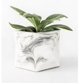 HOUSE RACCOON Palua Plantenpot – Medium – White marble