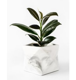 HOUSE RACCOON Palua Plantenpot – Large – Wit marmer