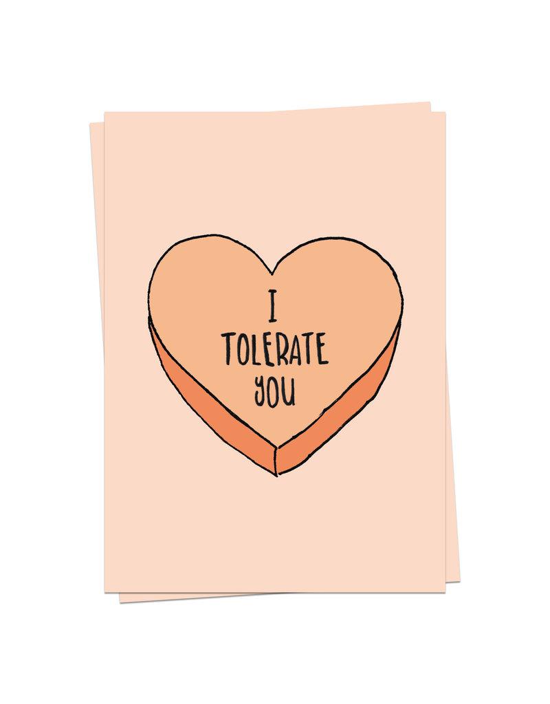 KaartBlanche Kaartje – I tolerate you
