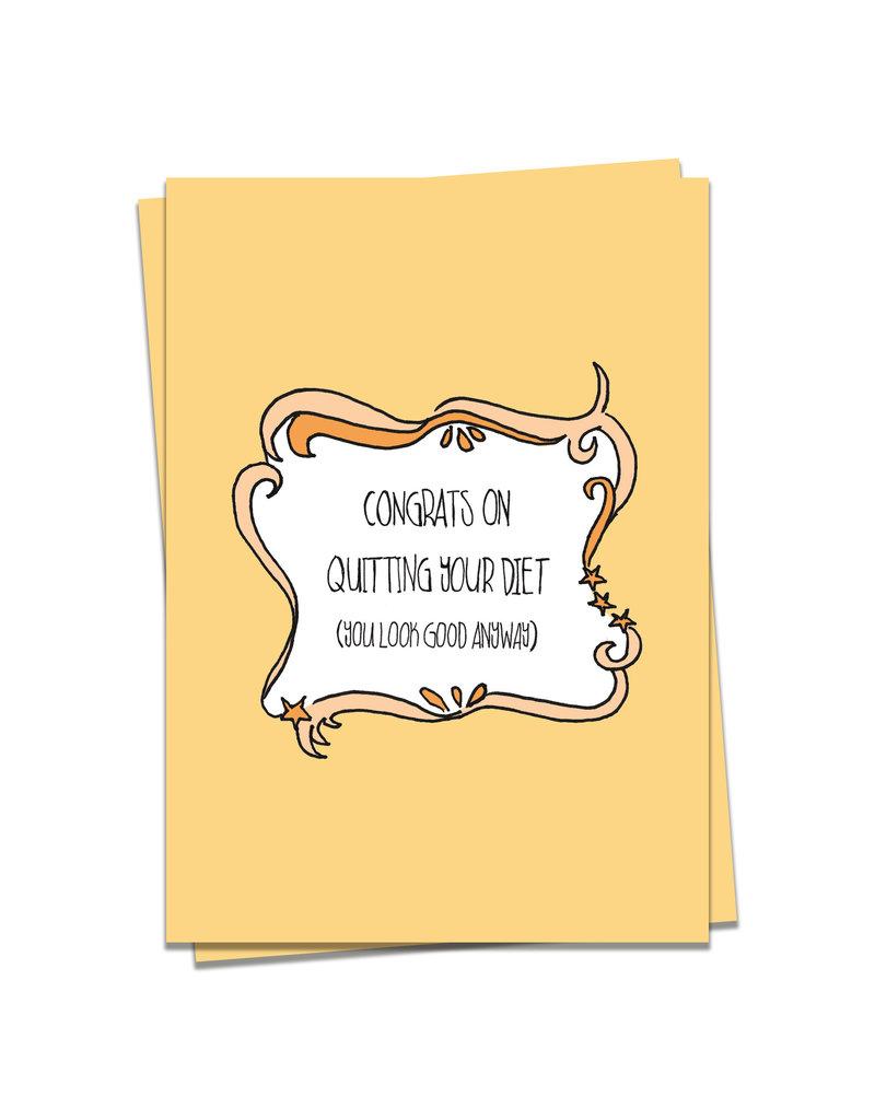 KaartBlanche Kaartje – Quitting diet