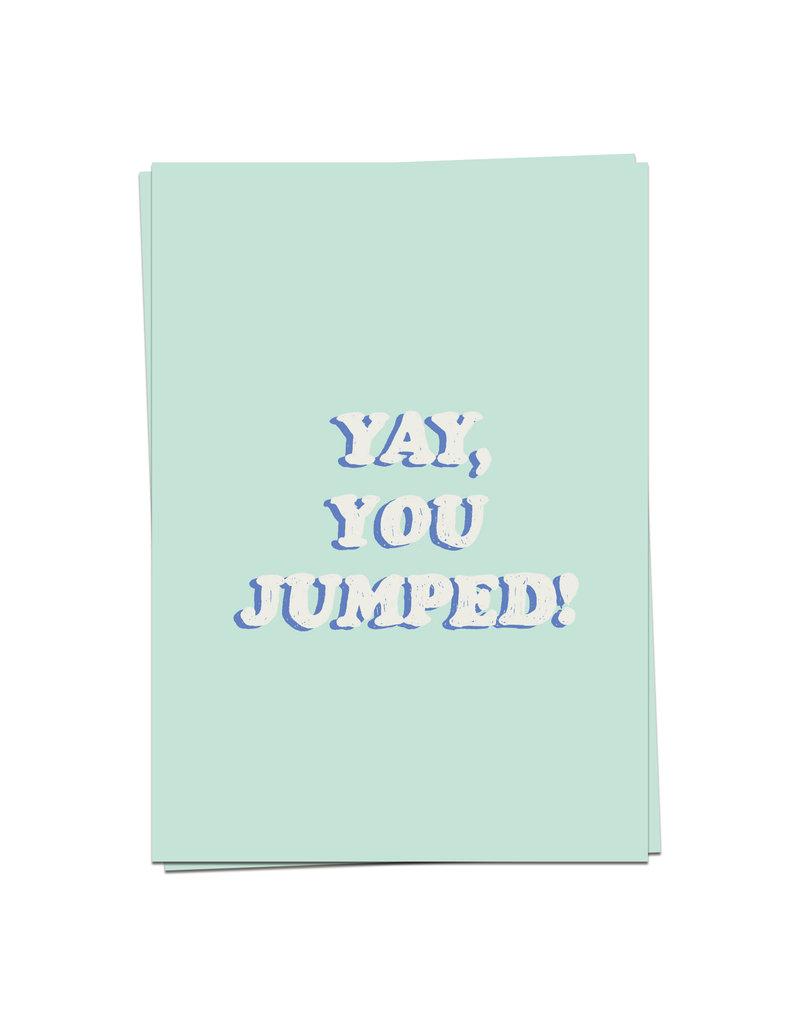 KaartBlanche Kaartje – Yay, you jumped