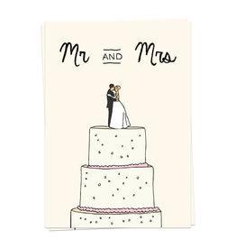 KaartBlanche Kaartje – Wedding Cake mr and mrs