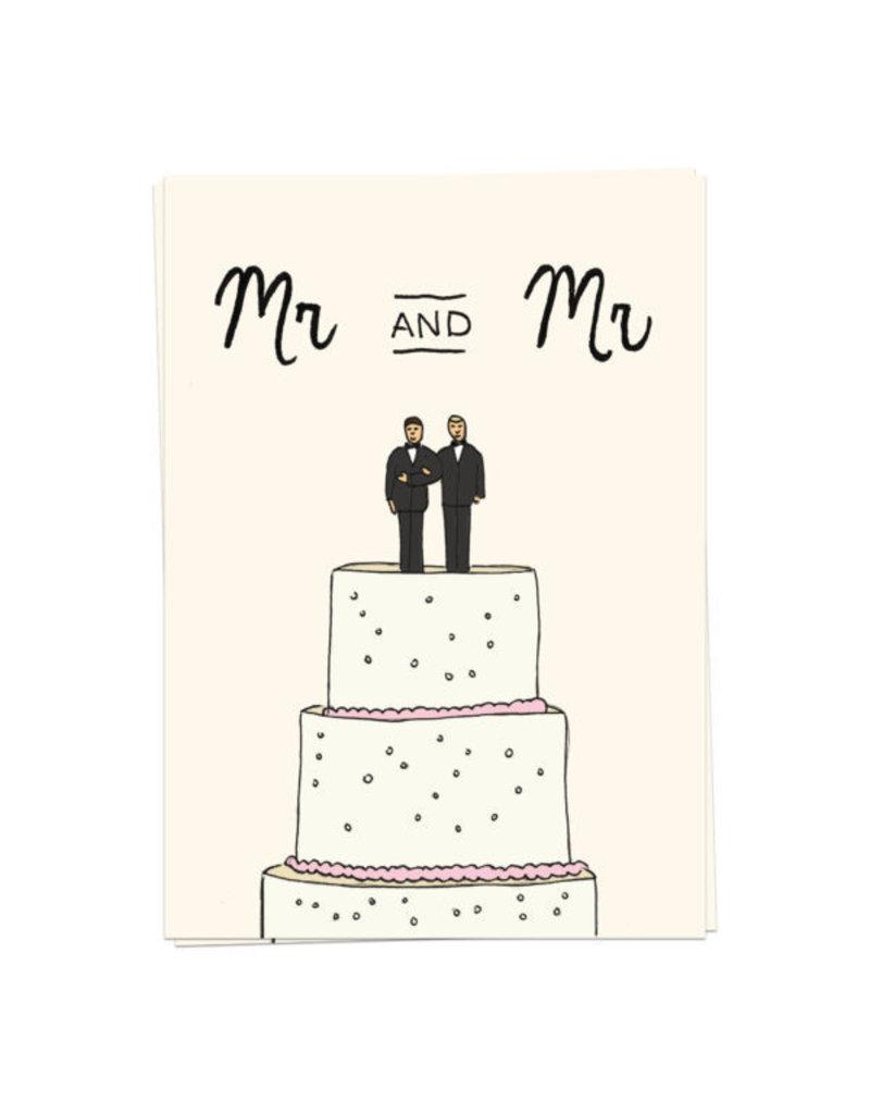 KaartBlanche Kaartje – Wedding Cake mr and mr