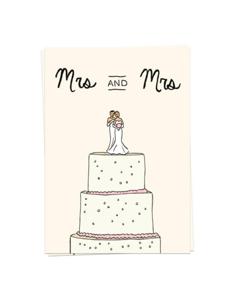 KaartBlanche Kaartje – Wedding Cake mrs and mrs