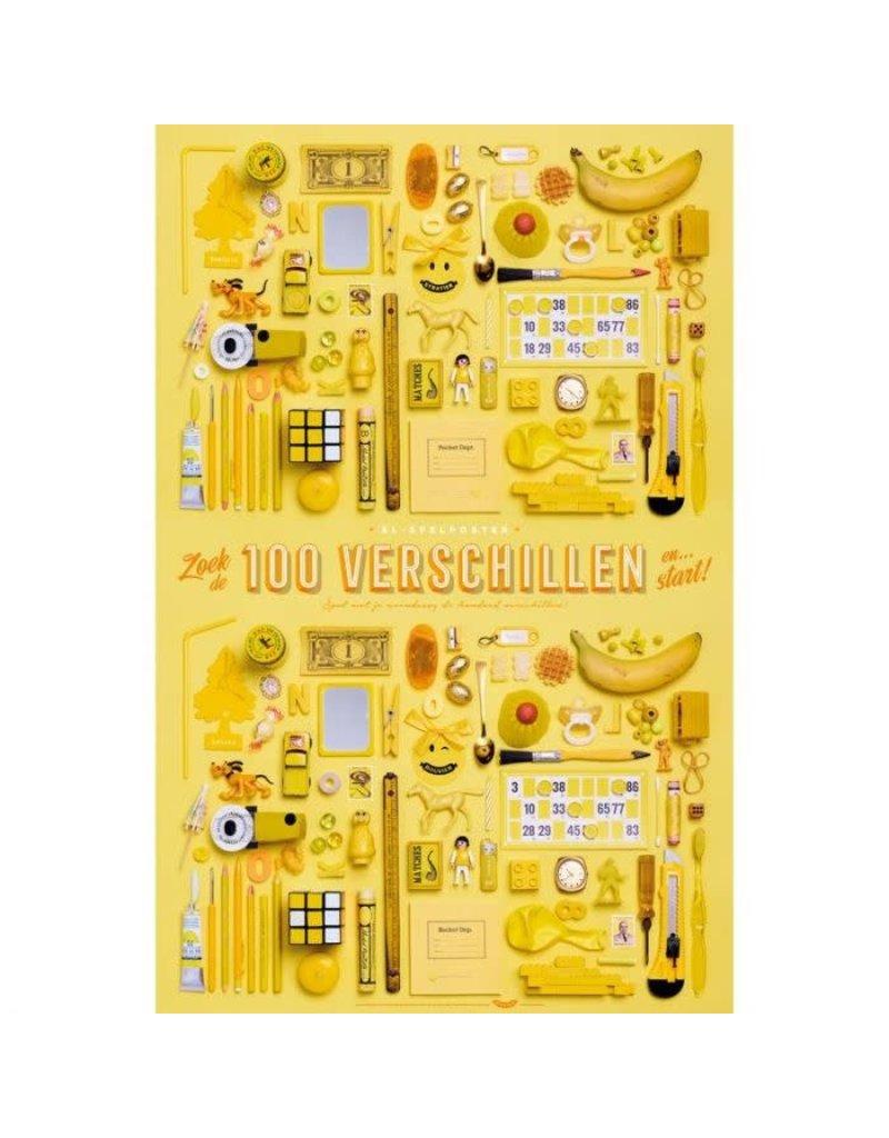 Stratier XL-poster 'zoek de 100 verschillen'