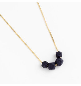 Jacqueline & Compote Facet ketting- Blauw